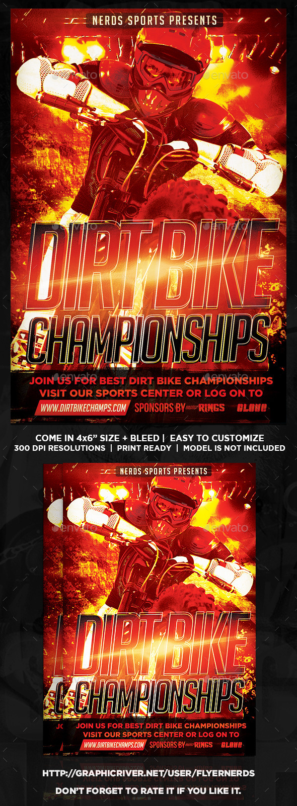 Dirt Bike Championships Flyer - Sports Events