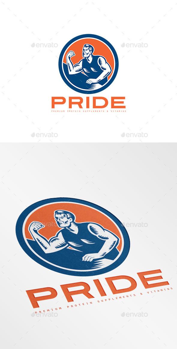 Pride Premium Protein Supplement Logo - Humans Logo Templates