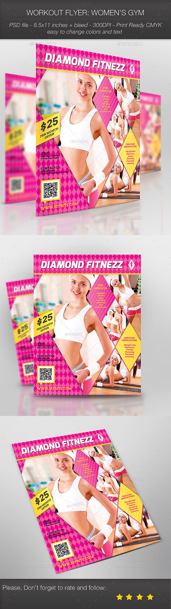 Workout Flyer: Women's Gym - Sports Events
