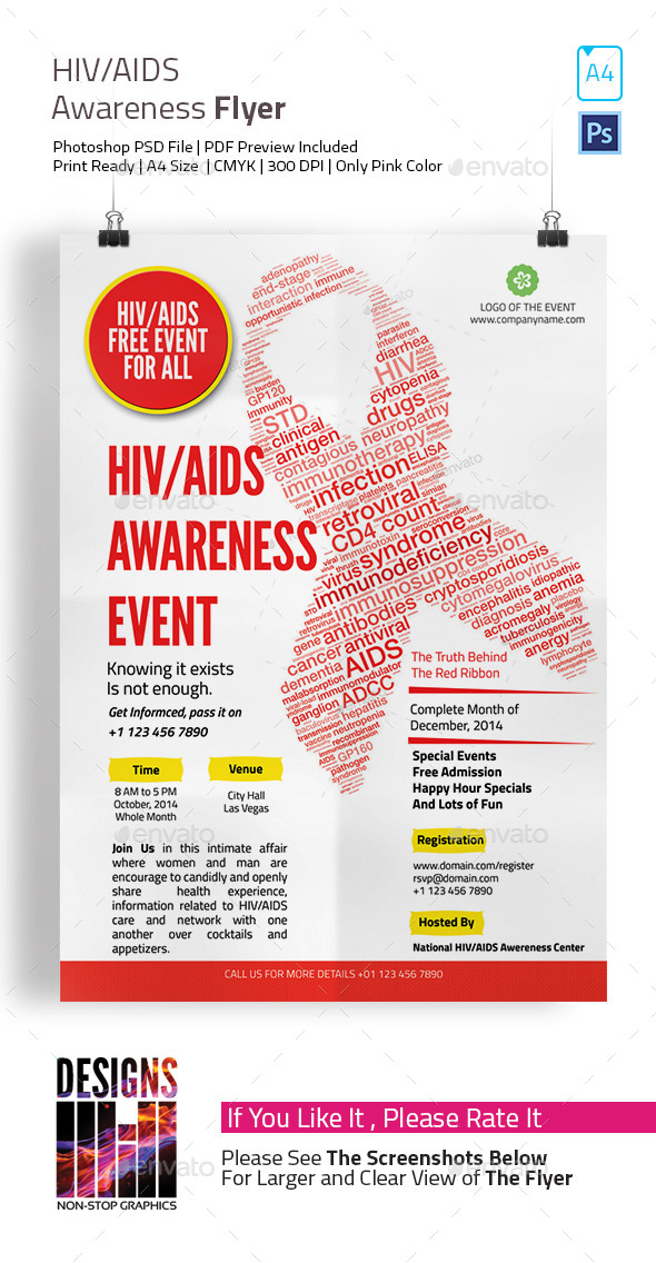 HIV and AIDS Awareness Flyer by designsmill | GraphicRiver