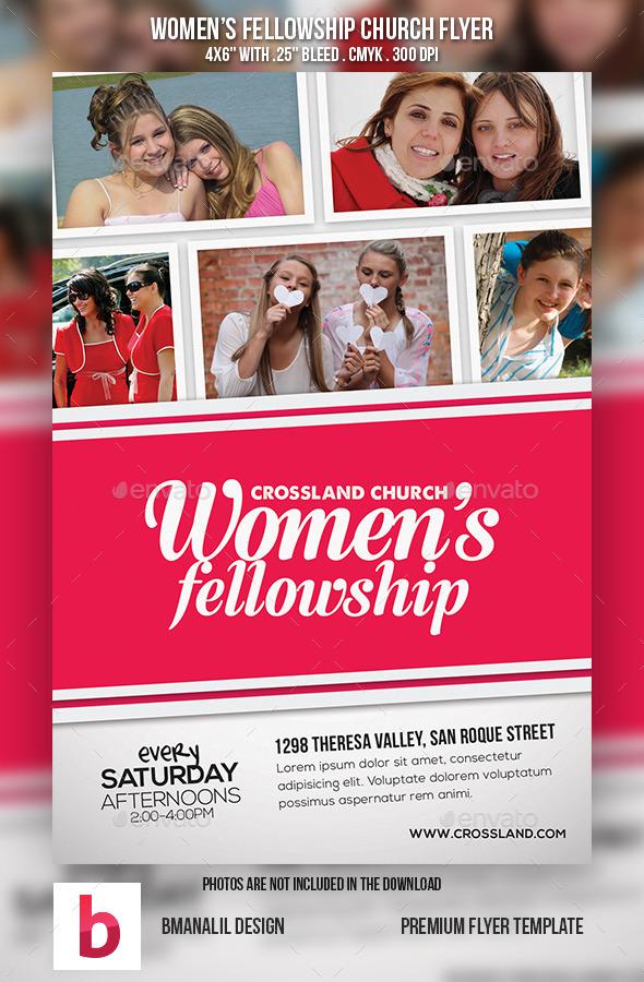 Women's Fellowship Church Flyer - Church Flyers