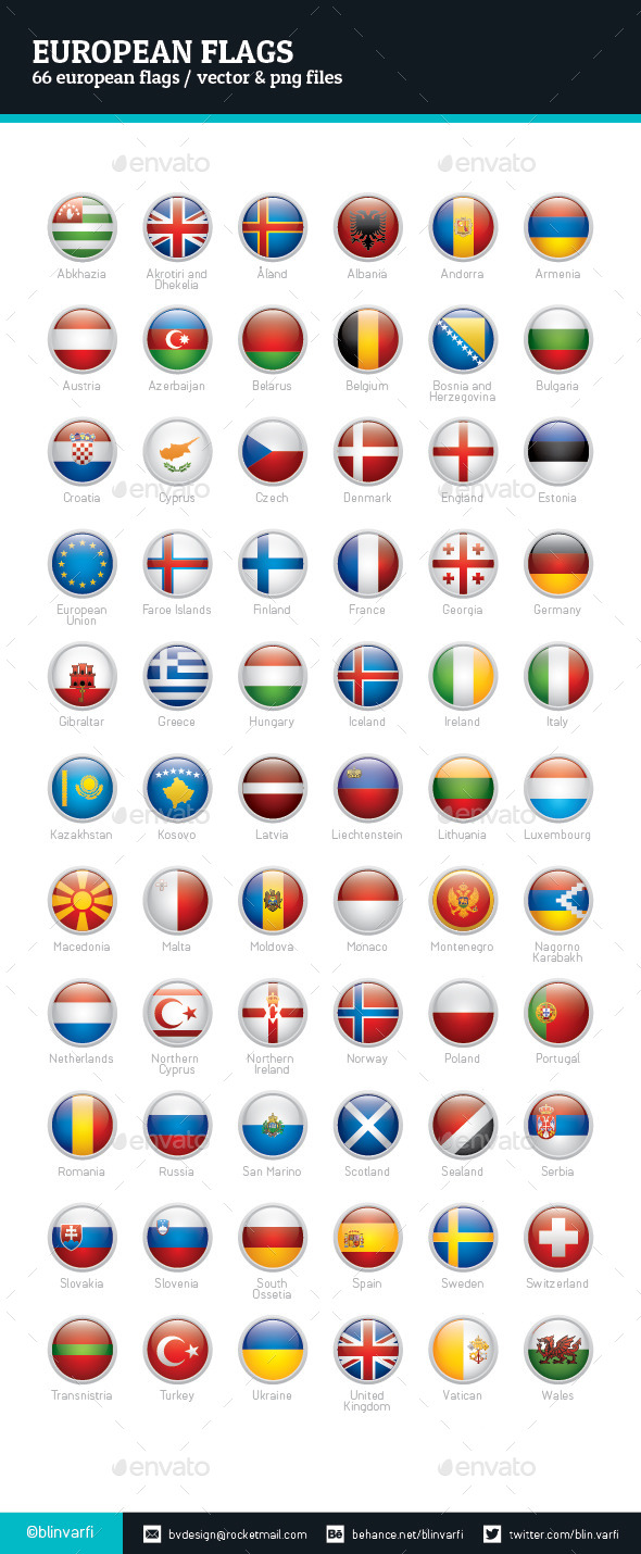 European Flags - Rounded Icons - Icons