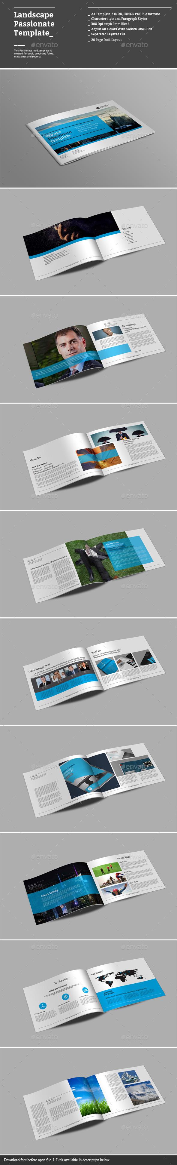 Landscape Passionate Templates - Corporate Brochures