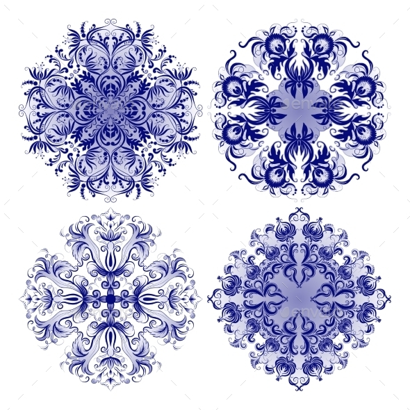 Filigree Background with Vintage Ornaments - Patterns Decorative