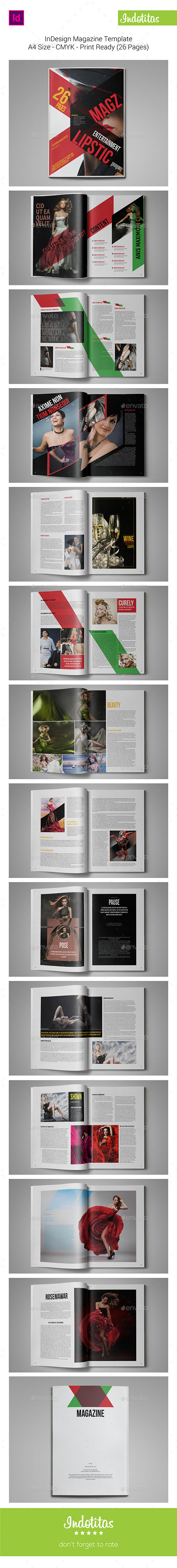 InDesign MagazineTemplate - Magazines Print Templates