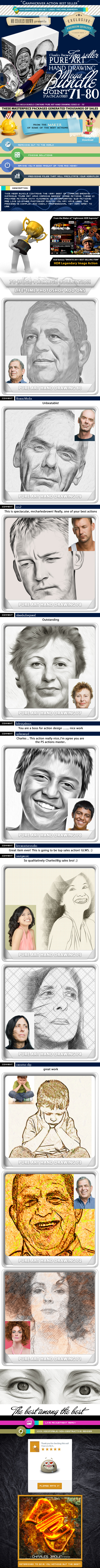 All Charles Brown's Pure Art Hand Drawing Bundle 8 - Photo Effects Actions