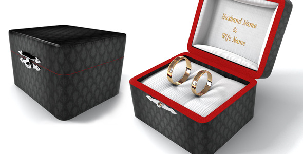 Realistic Wedding Rings with nice Box - 3DOcean Item for Sale