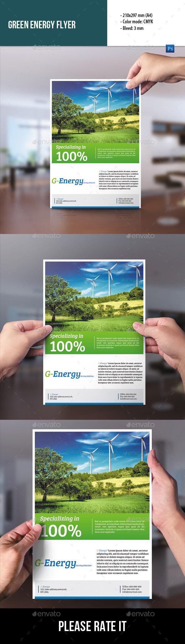 Green Energy Flyer - Corporate Flyers