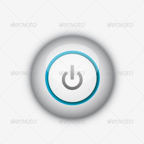 Vector power button - Web Elements Vectors