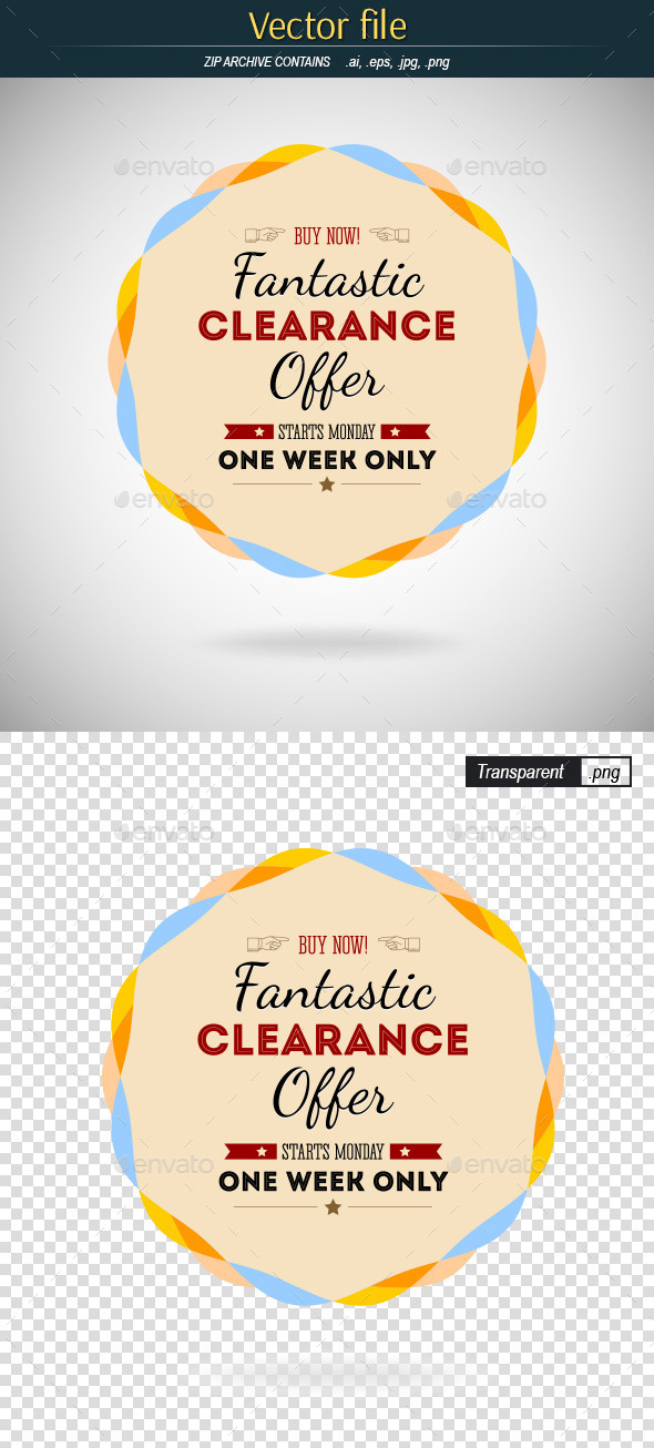 Badge Fantastic Offer - Commercial / Shopping Conceptual