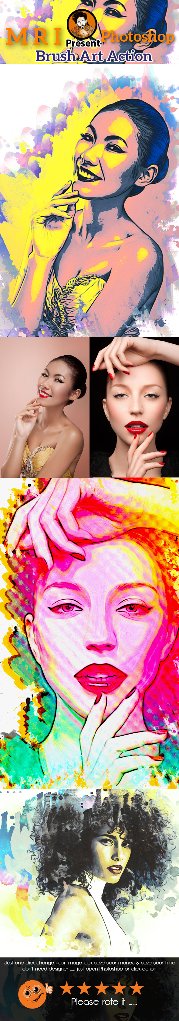Brush Art Action - Actions Photoshop
