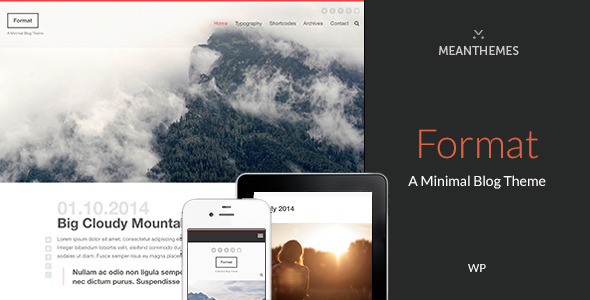 Format: A Minimal WordPress Blog Theme