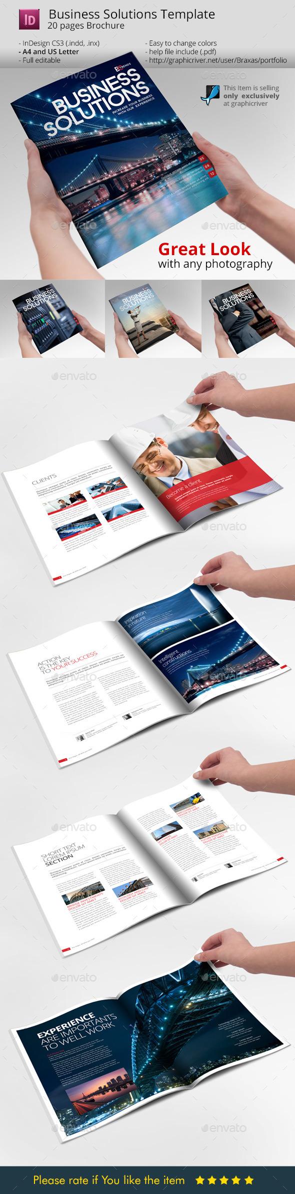 Business Solution Template Brochure - Informational Brochures