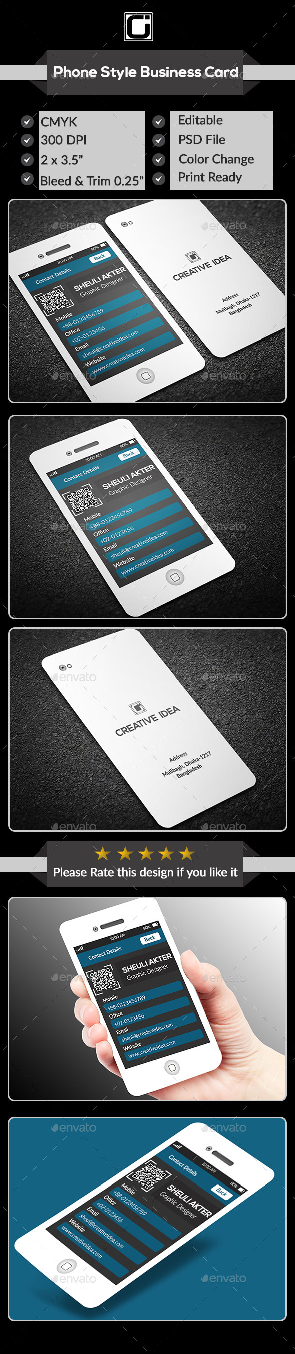 Phone Business Card - Creative Business Cards