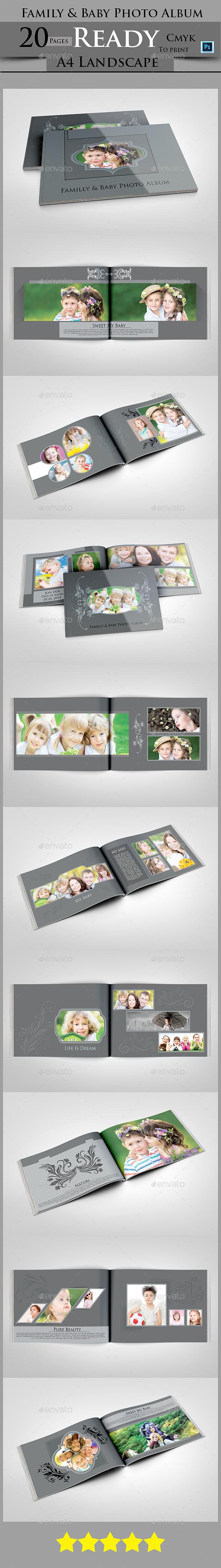Family & Baby Photo Album - Photo Albums Print Templates