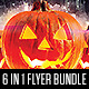 Ultimate Halloween Party Flyer Bundle 6 in 1 - GraphicRiver Item for Sale