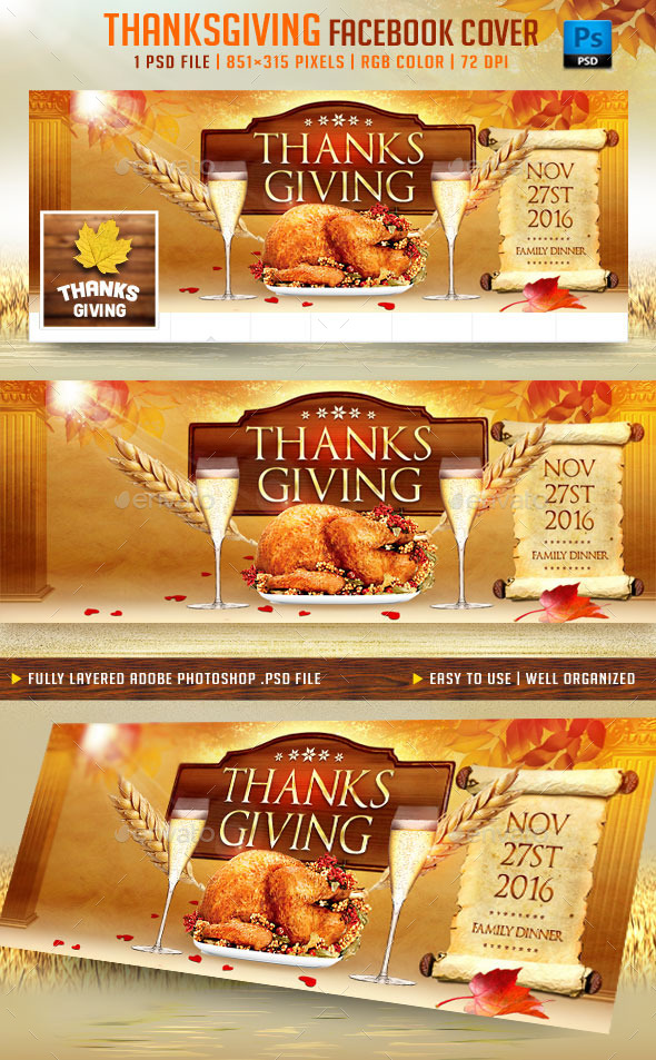 Thanksgiving Facebook Cover - Facebook Timeline Covers Social Media