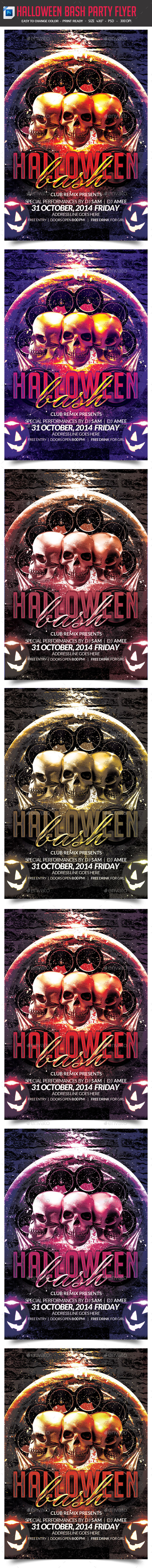 Halloween Bash Party Flyer - Clubs & Parties Events