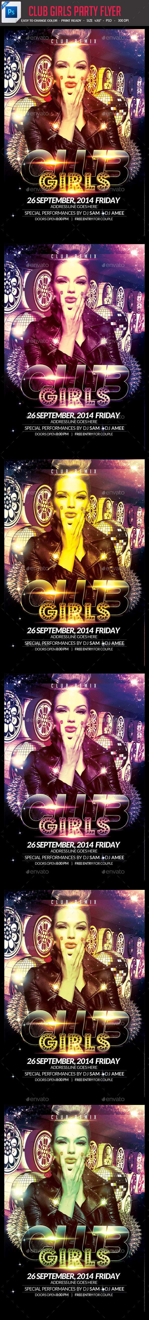 Club Girls party Flyer - Clubs & Parties Events