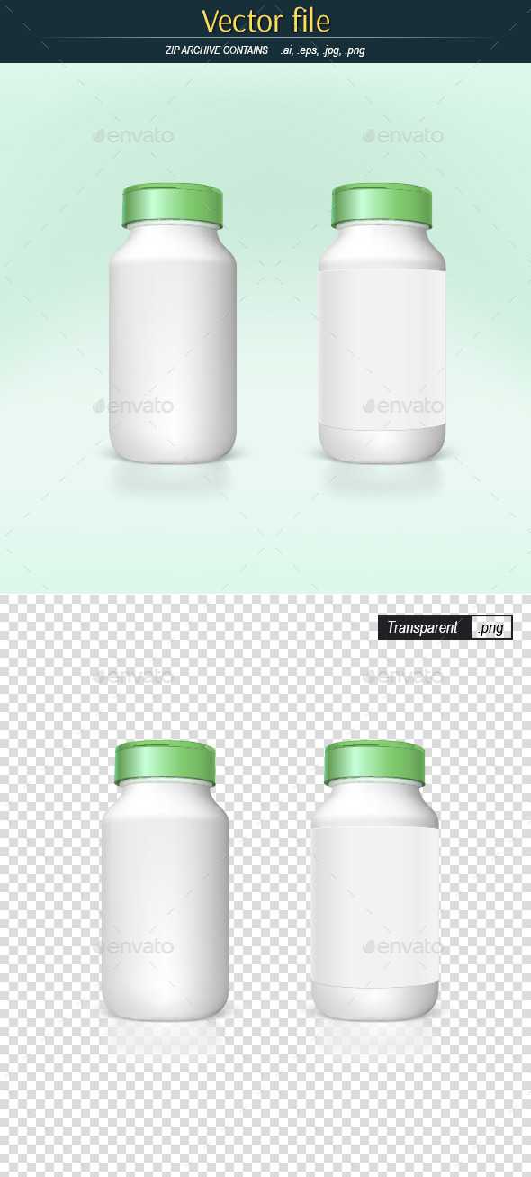 White Plastic Bottles - Man-made Objects Objects