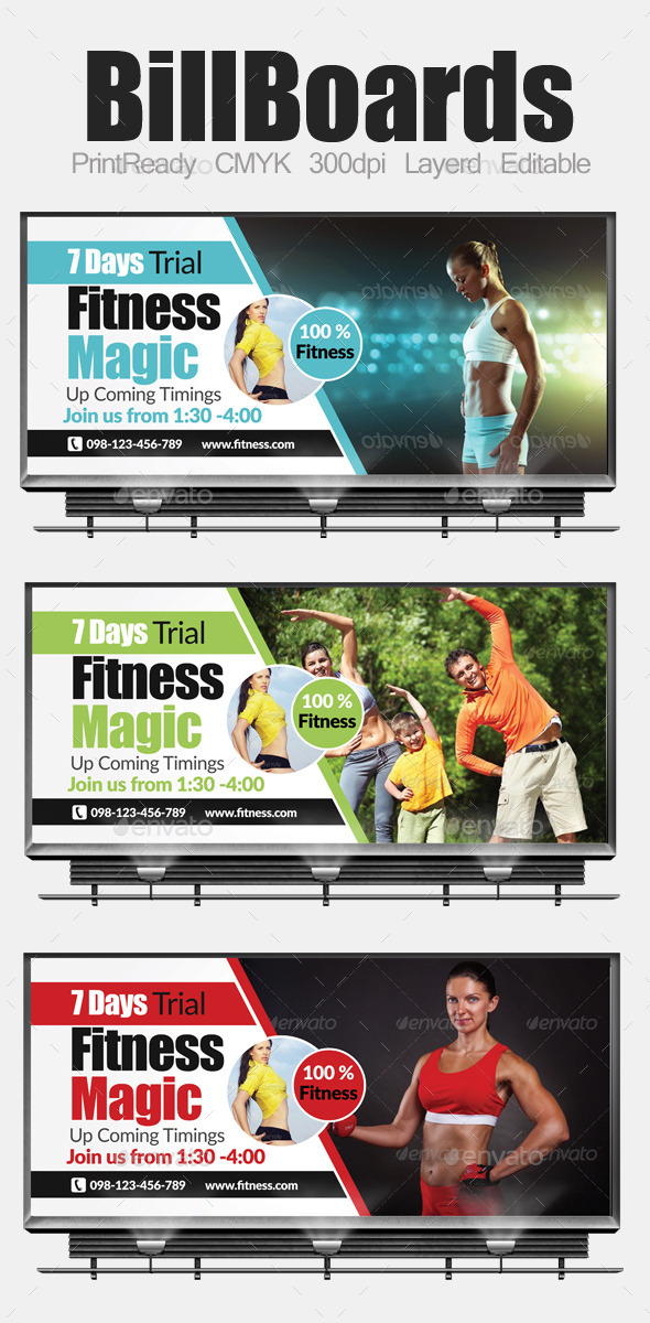 Multi Purpose Business Billboard Template - Signage Print Templates