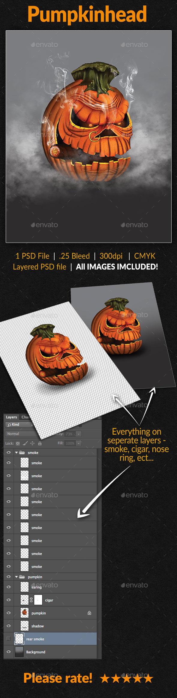 Pumpkin Head - Illustrations Graphics