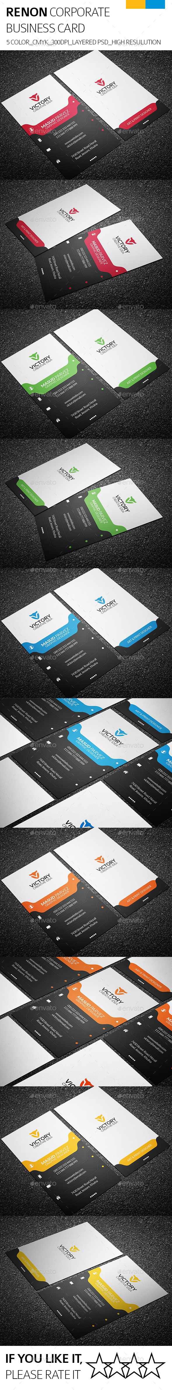 Renon & Corporate Business Card - Corporate Business Cards