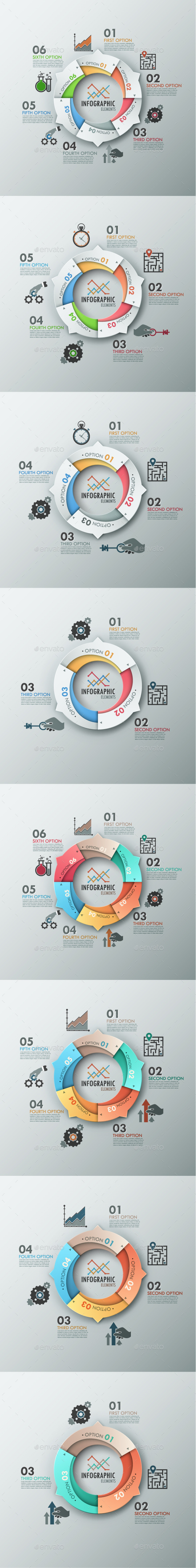 Modern Infographic Options Banner (8 Items) - Infographics