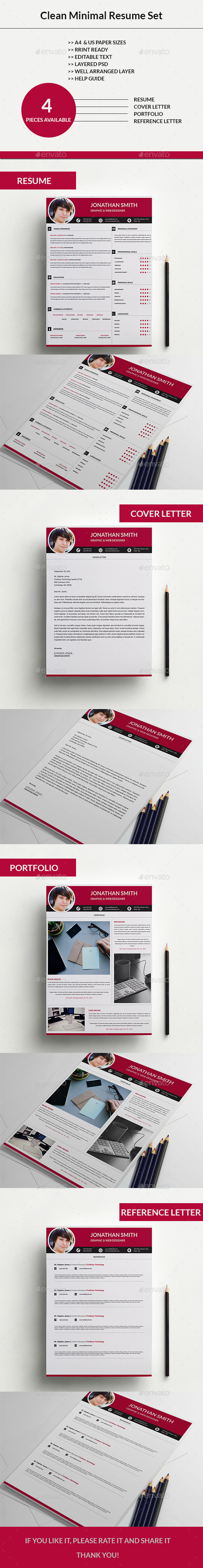 Clean Minimal Resume Set -03 - Resumes Stationery