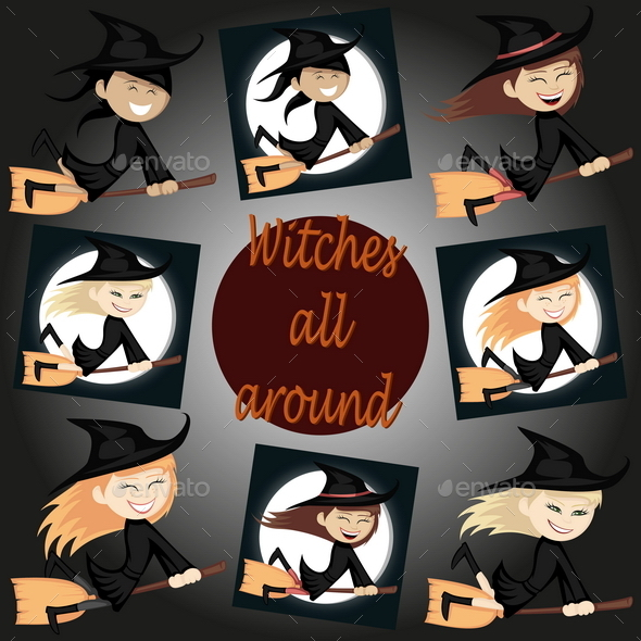 Witches All Around - Halloween Seasons/Holidays