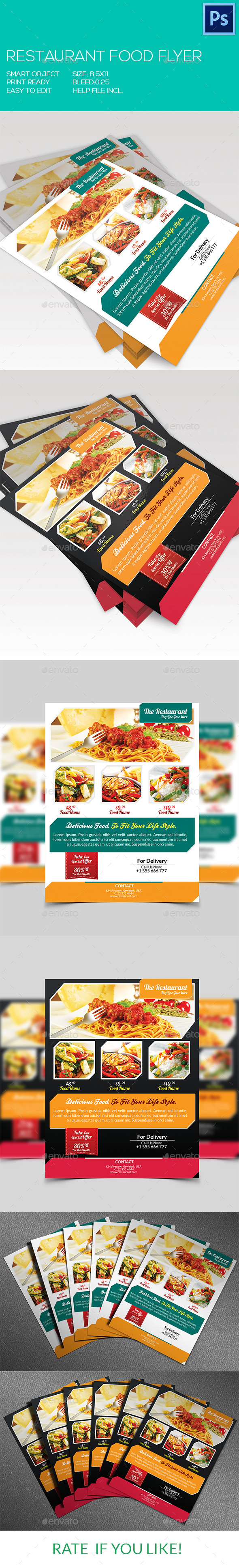 Restaurant Food Flyer - Restaurant Flyers