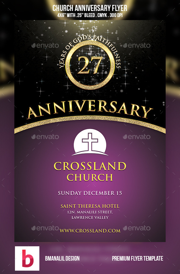 Church Anniversary Flyer by bmanalil | GraphicRiver