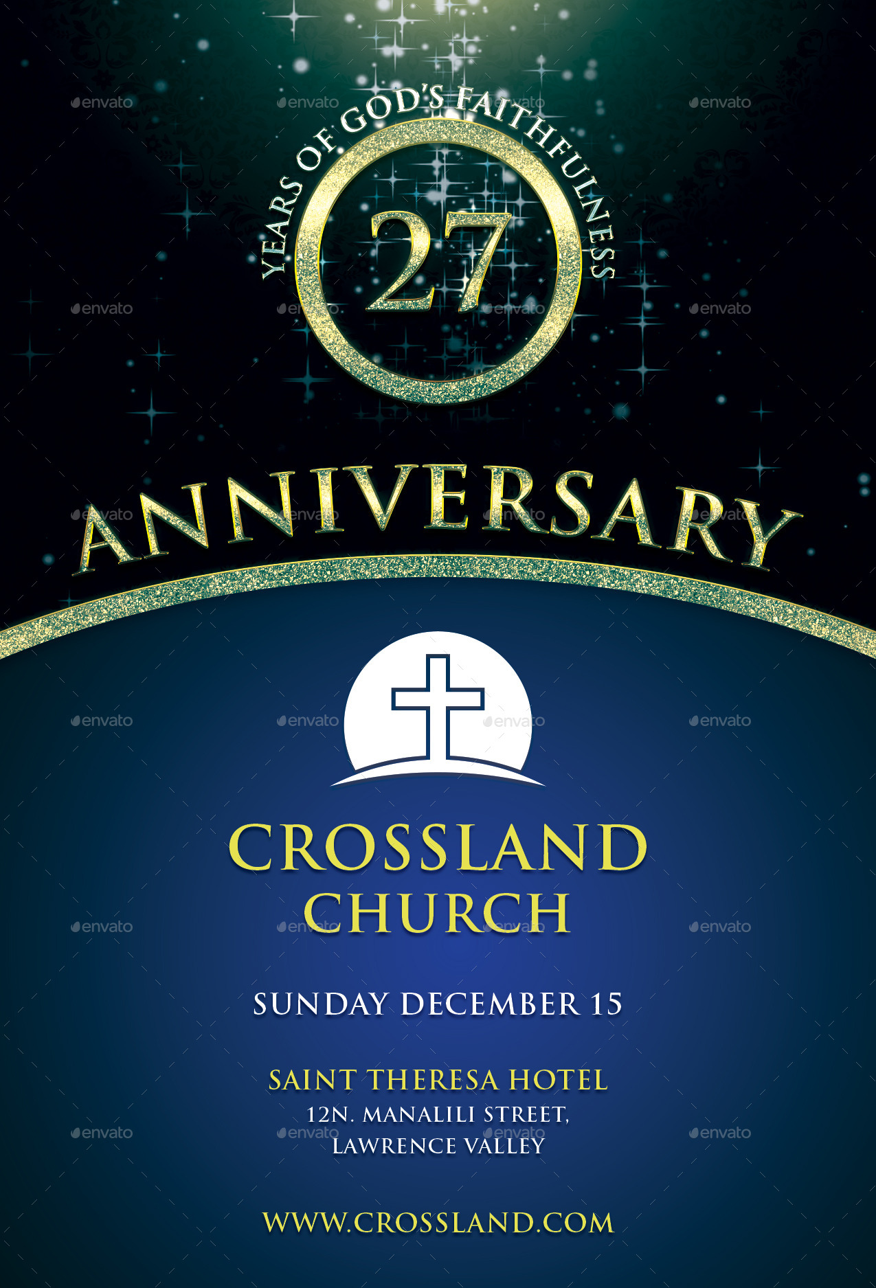 Charming Church Anniversary Flyer