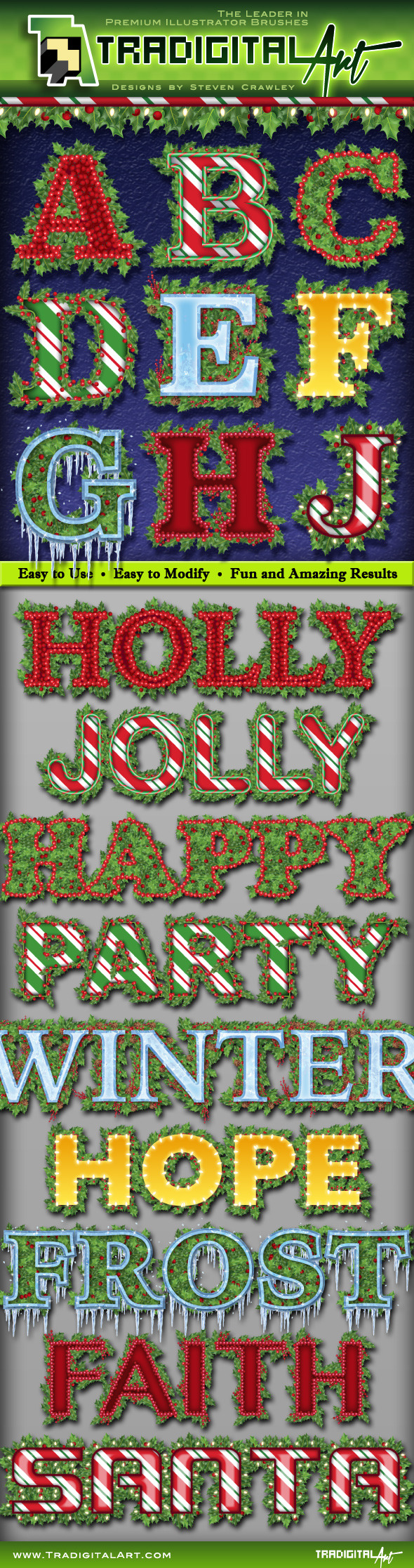 Holly Jolly Graphic Styles - Styles Illustrator