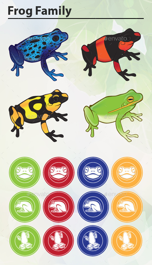 Frog Family - Animals Characters