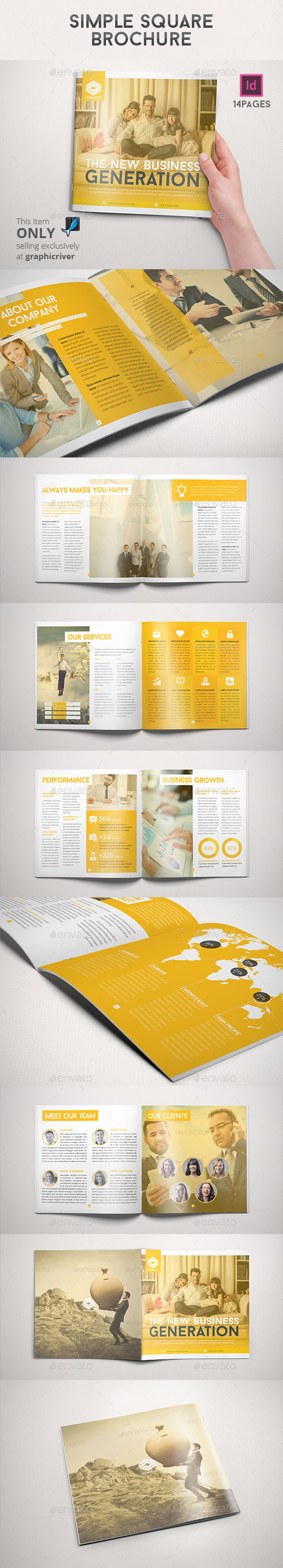 Simple Square Brochure - Informational Brochures