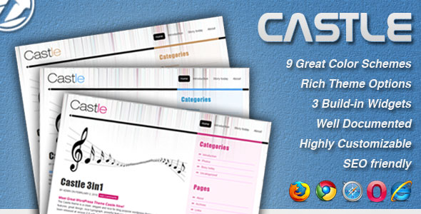 Free Download Castle - 9 in 1 Professional Blog Template Nulled Latest Version