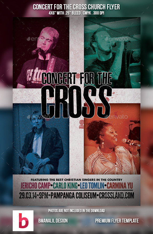 Concert for the Cross Church Flyer - Church Flyers