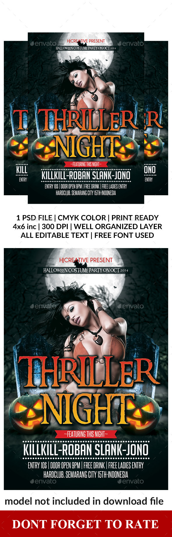 Halloween Poster Flyer Template Vol. 3 - Clubs & Parties Events