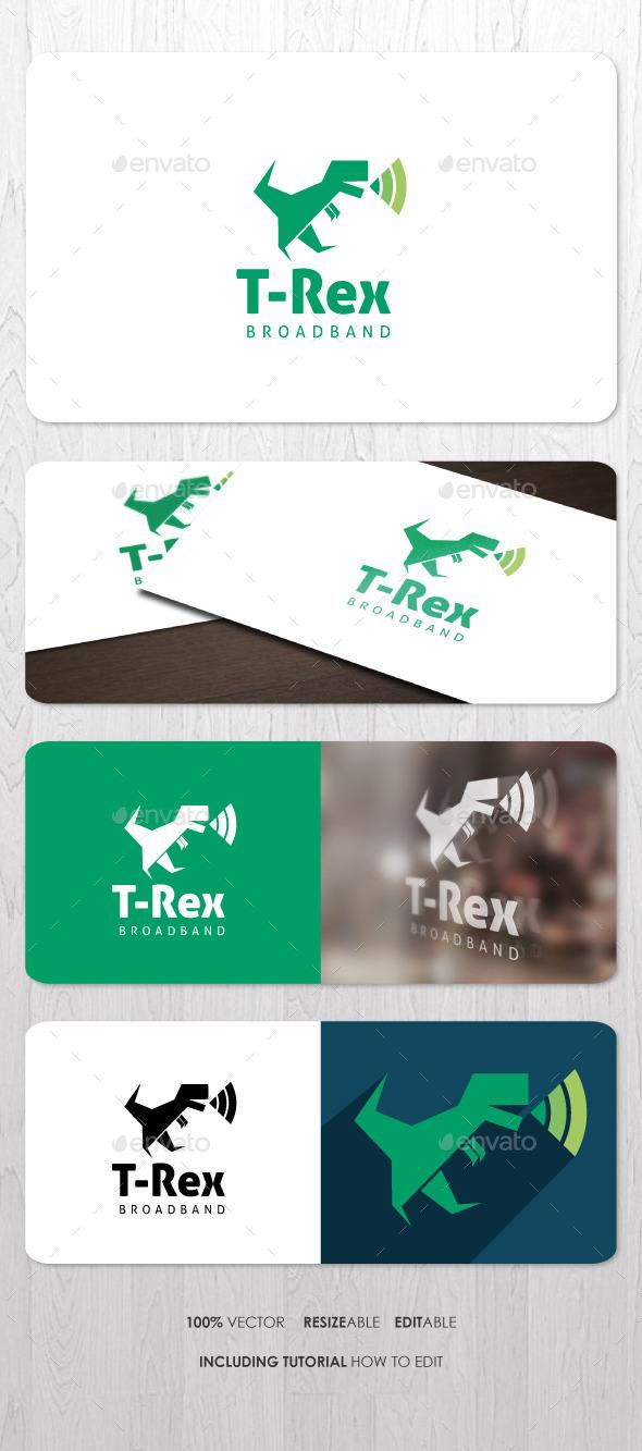 T-Rex Broadband Logo - Animals Logo Templates
