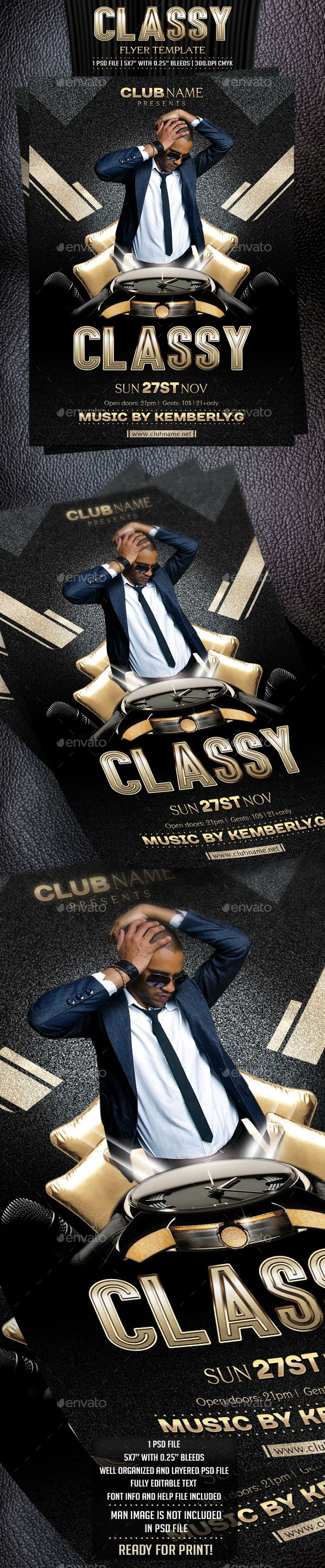 Classy Flyer Template - Clubs & Parties Events