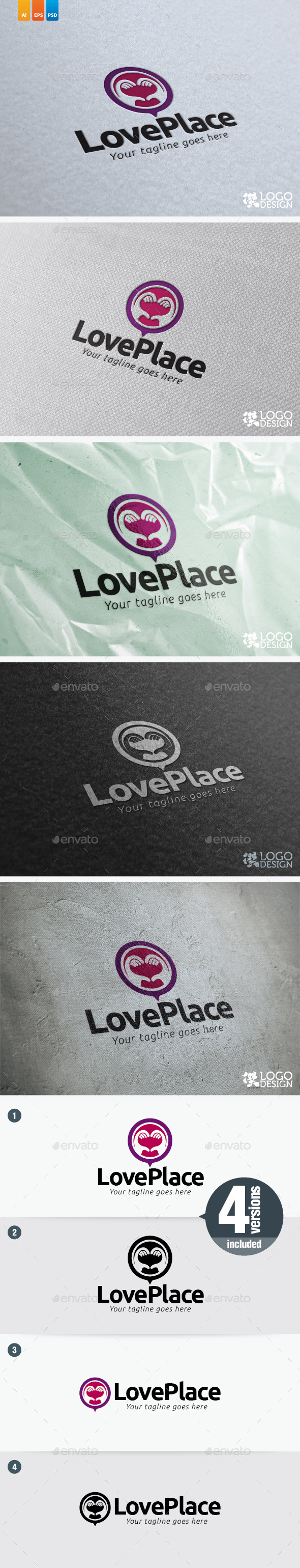 Love Place - Humans Logo Templates