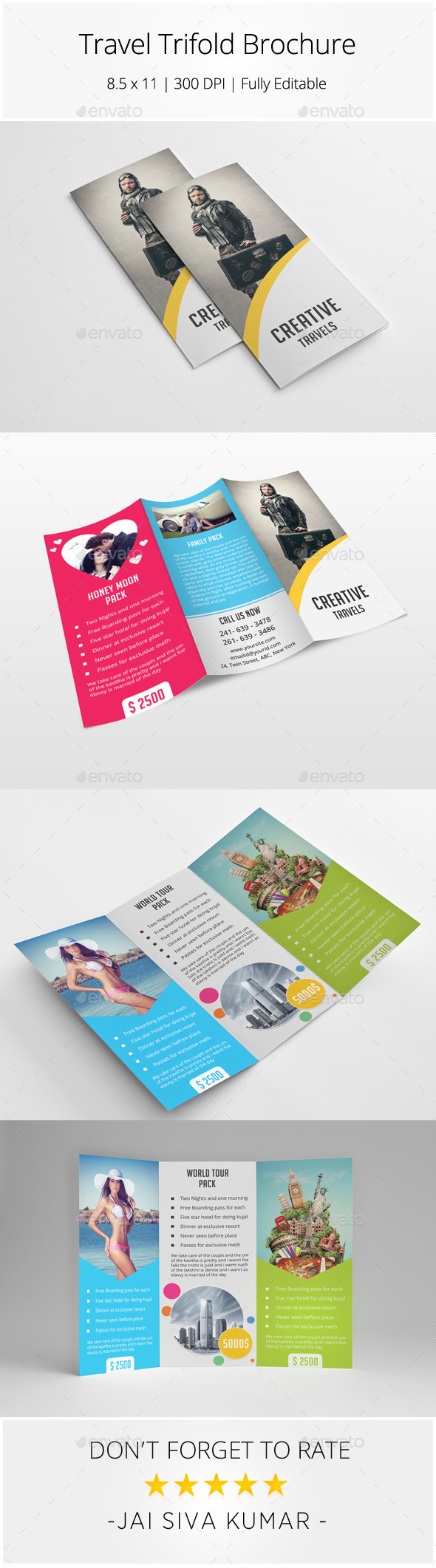 Travel Trifold Brochure - Catalogs Brochures