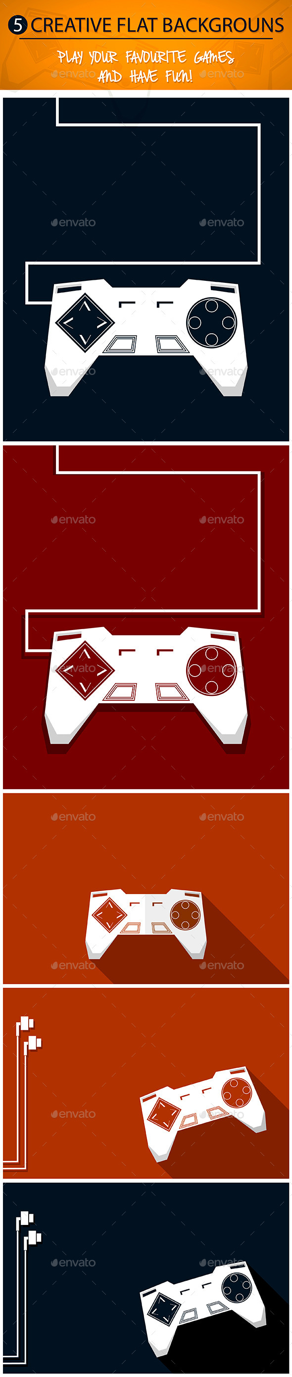 Gamepad Backgrounds Set - Backgrounds Decorative