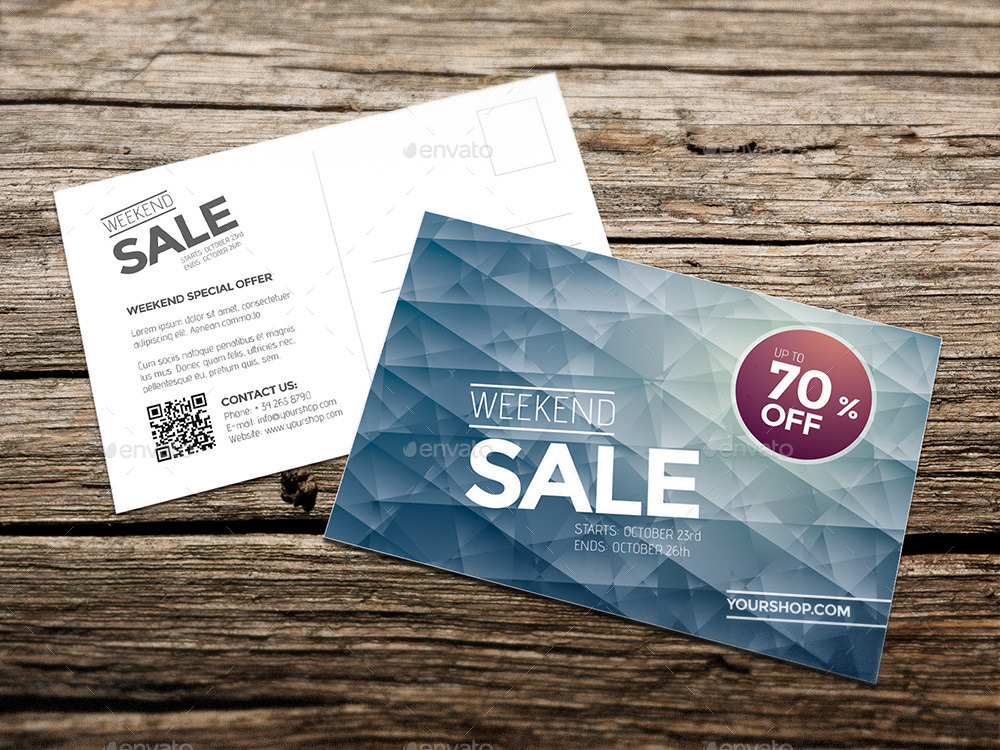 Diamonds Weekend Sale Postcard / Mailer