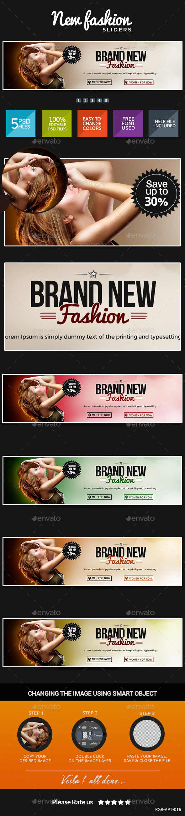 New Fashion Sliders - Sliders & Features Web Elements