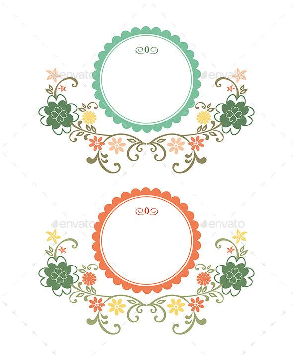 Vintage Floral Frames - Decorative Vectors