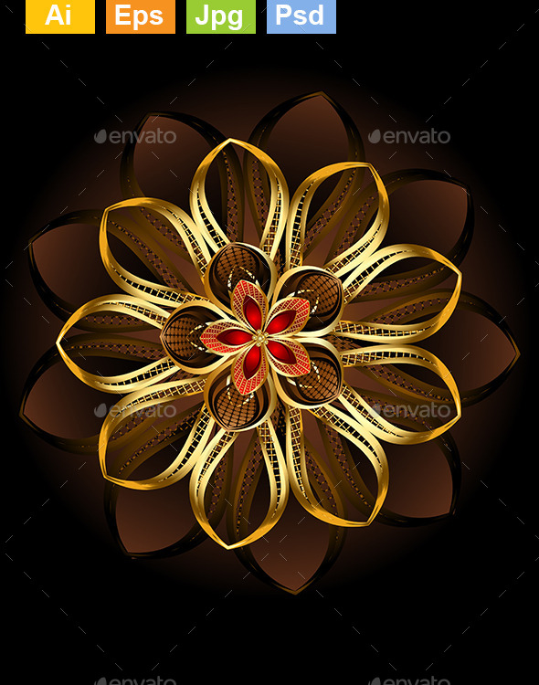 Abstract Brown Flower - Abstract Conceptual