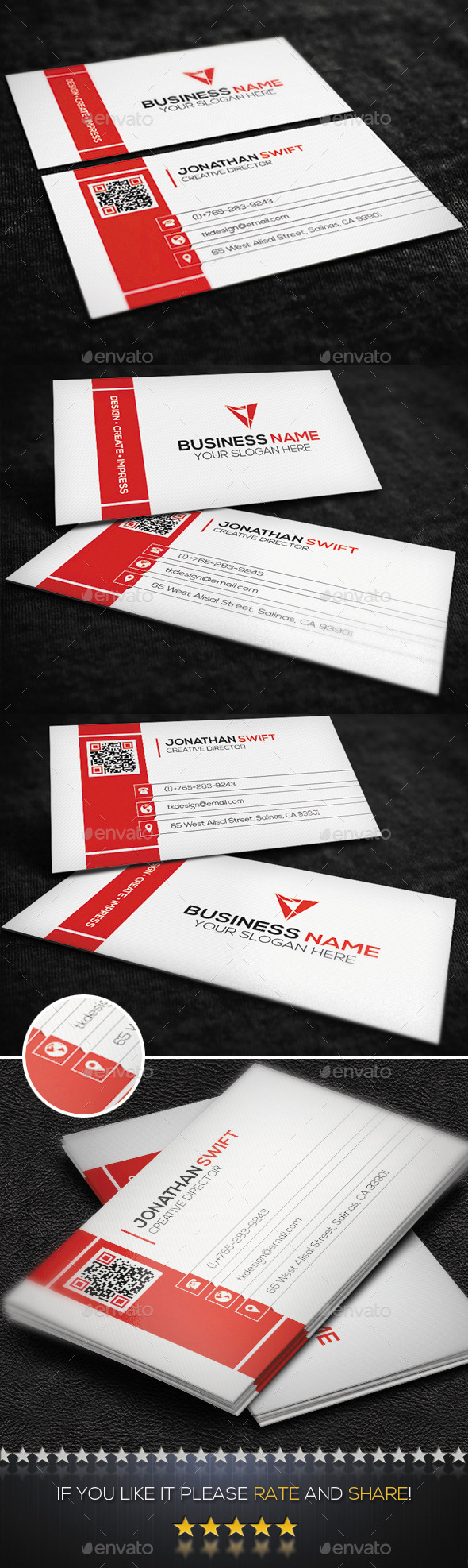 Corporate Business Card No.02 - Corporate Business Cards