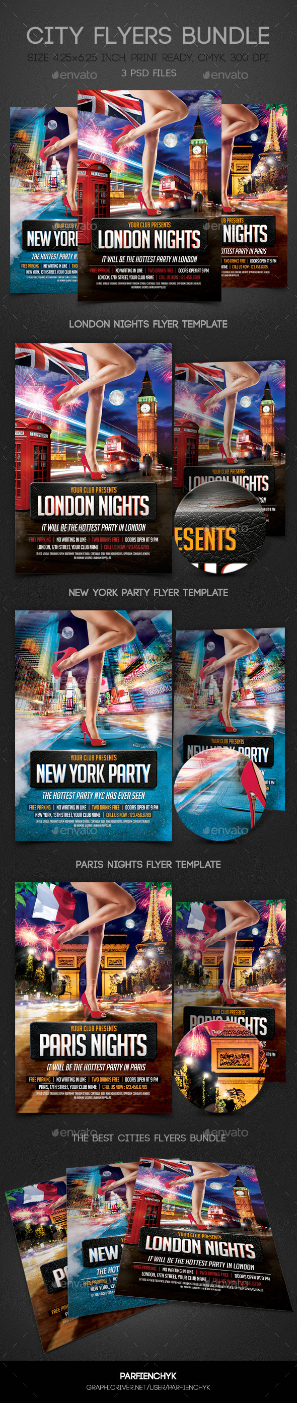 City Flyers Bundle - Clubs & Parties Events